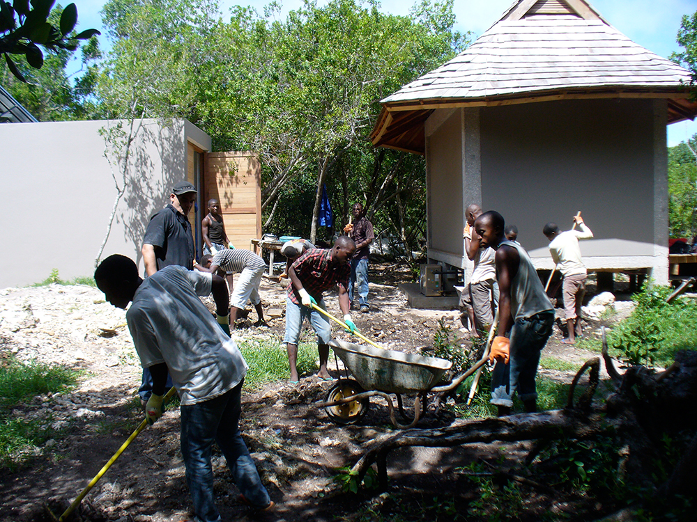 building a garden with young, unlearned men