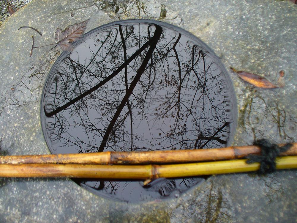 Wasserbecken Spiegelung