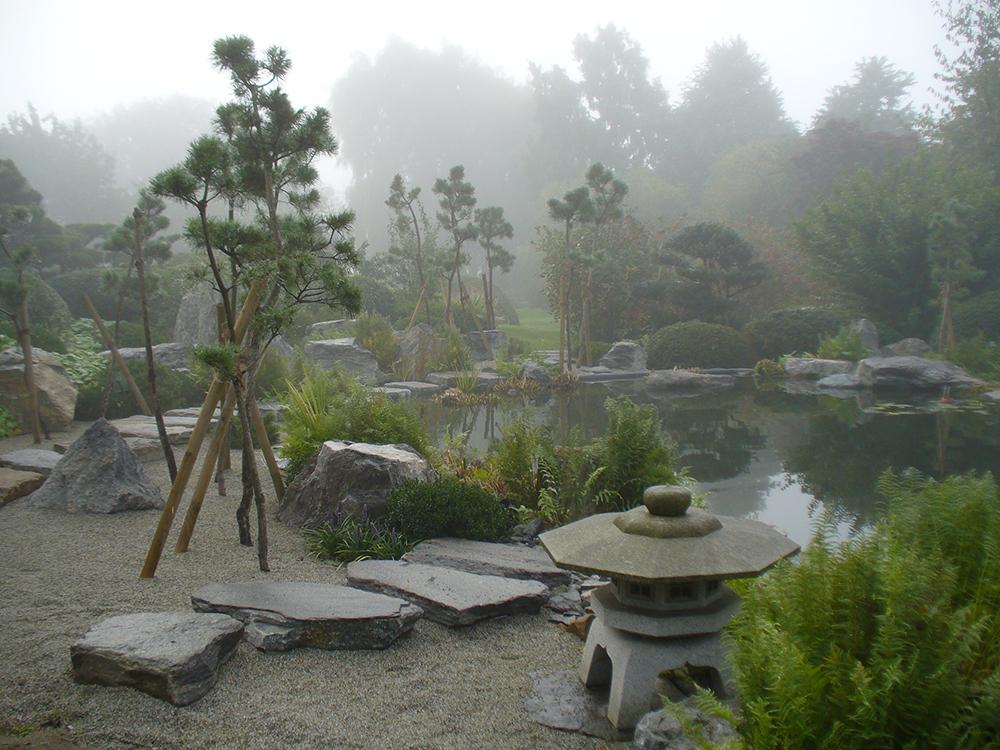 Koiteich im japanischen Garten in Bartschendorf