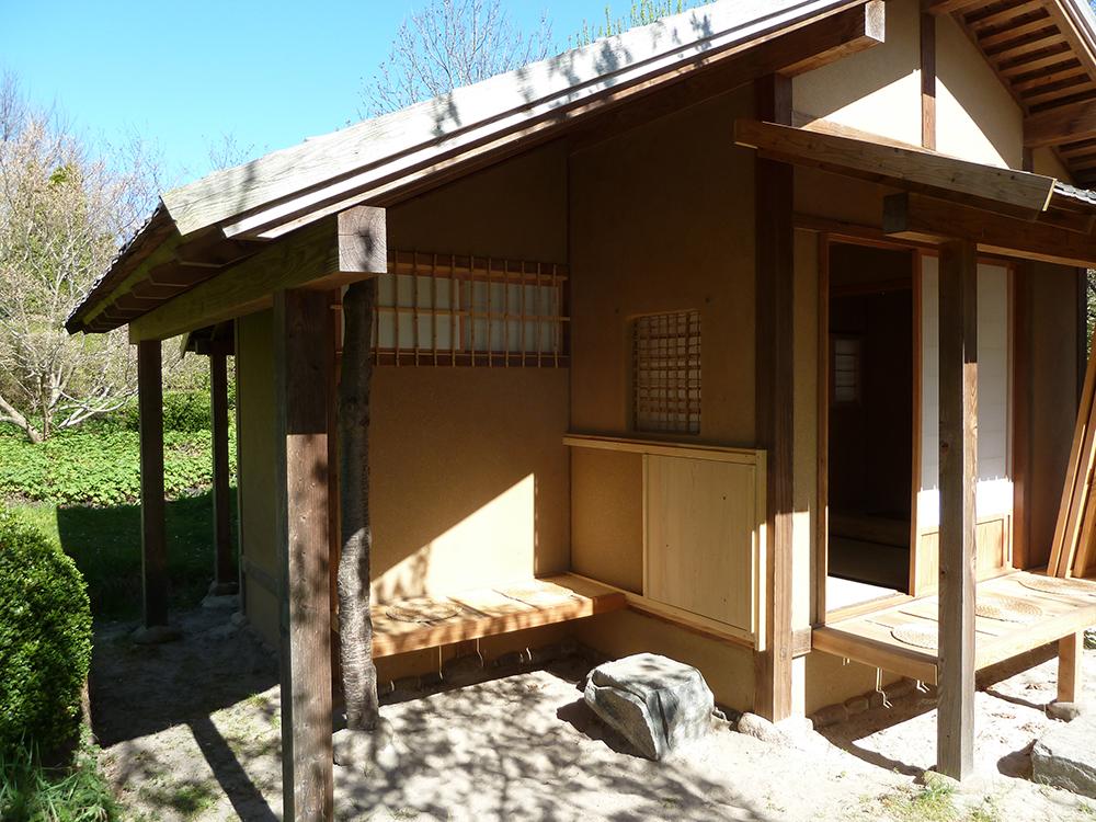Teehaus im japanischen Garten Bartschendorf