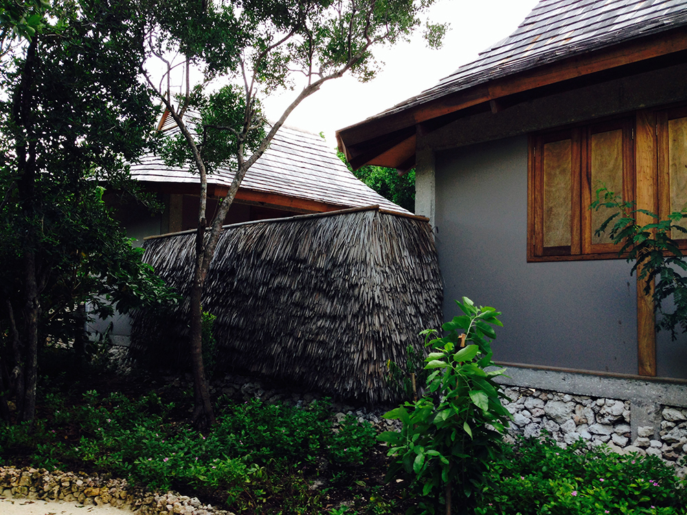 fence built out of makuti palm leafs