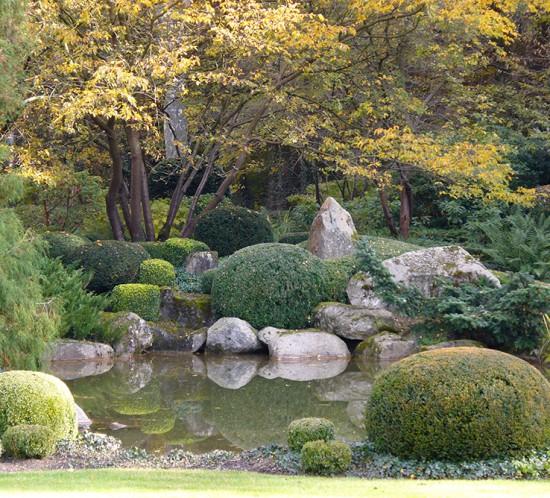 Teichanlage im japanischen Privatpark