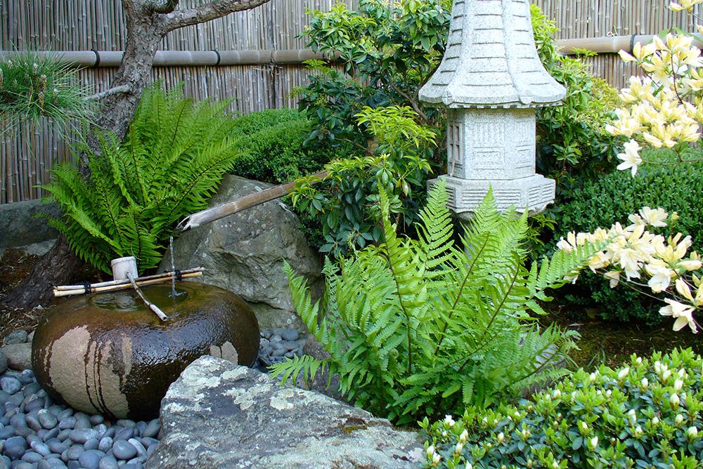 Tsukubai im japanischen Garten in Bartschendorf