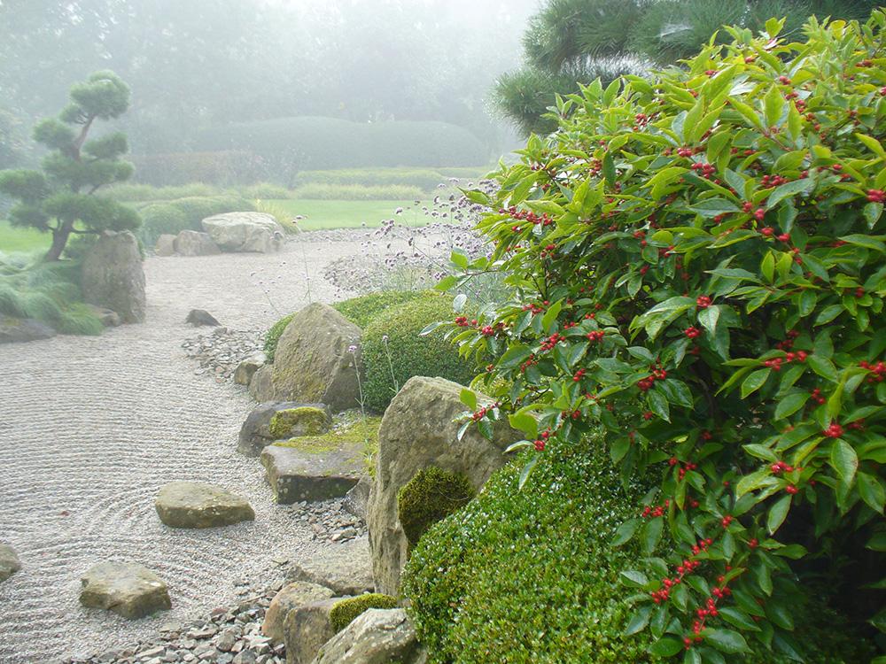 Herbst im japanischen Garten in Bartschendorf