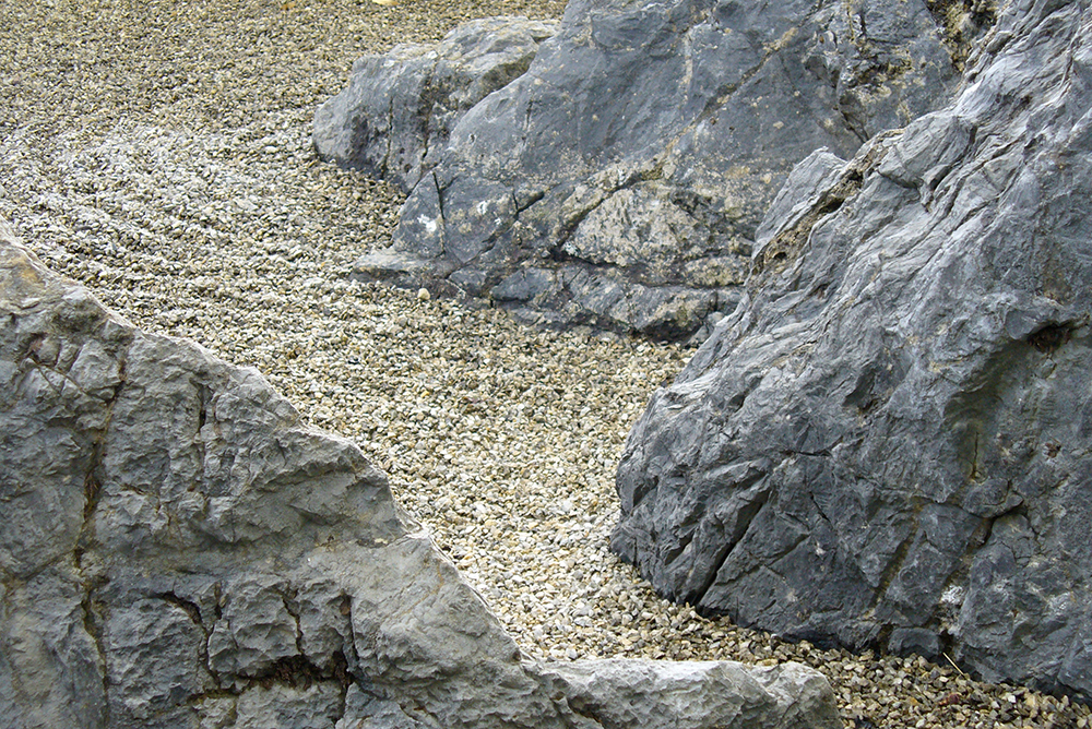 japanische Steinsetzung