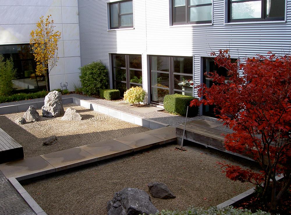 moderner japanischer Garten