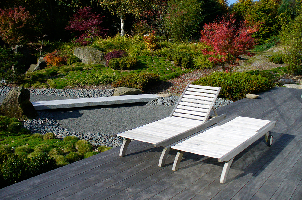 moderner, japanischer Garten
