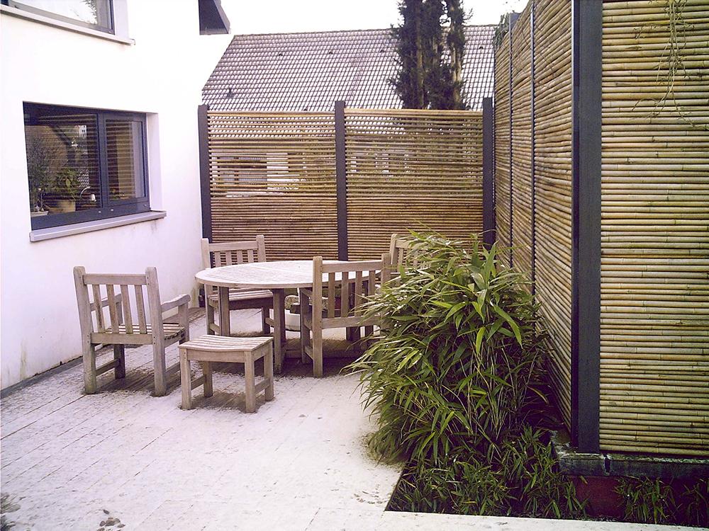 Sichtschutz für die Sitzecke auf der Terrasse