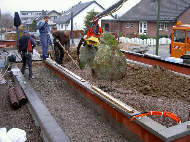Steinsetzung im Vorgarten