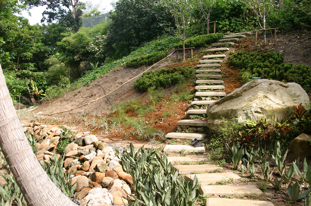 staircase at the beachsite