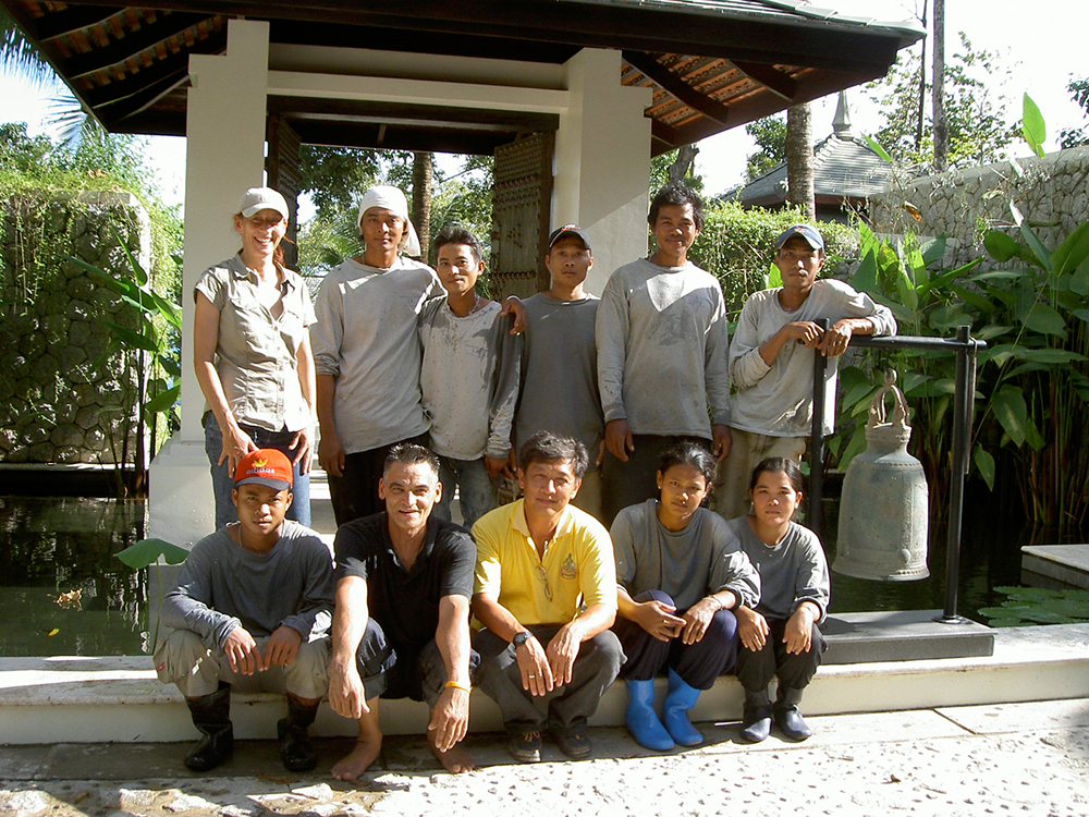 our garden team in Thailand