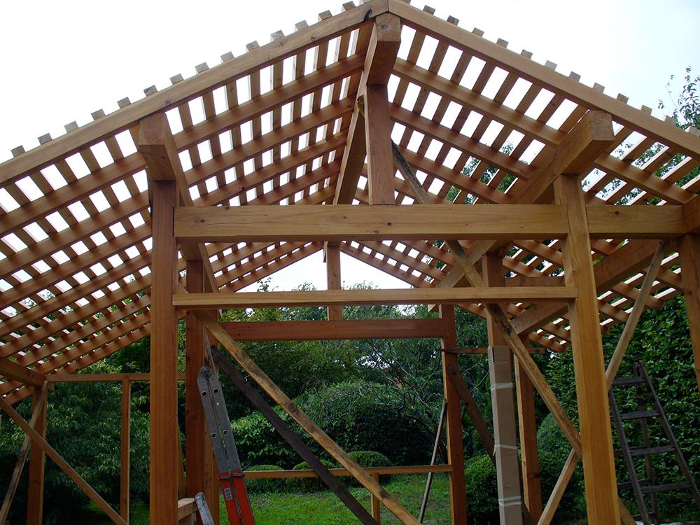 Dachlatten fürs Teehaus