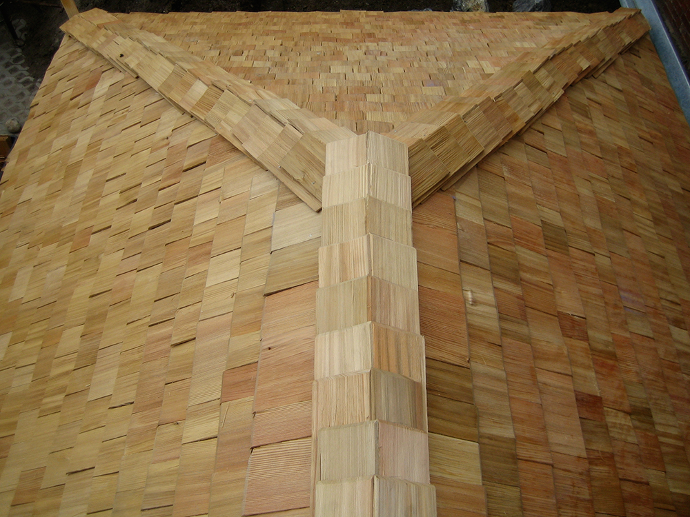 Holzschindeldach