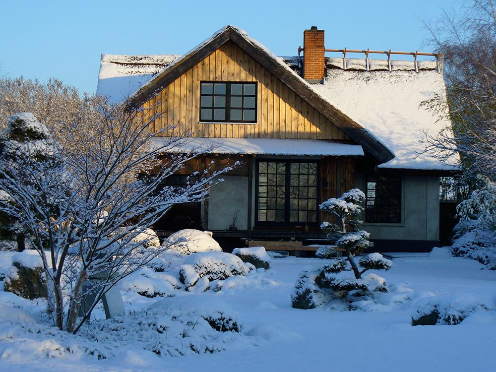 Winter im japanischen Garten Bartschendorf