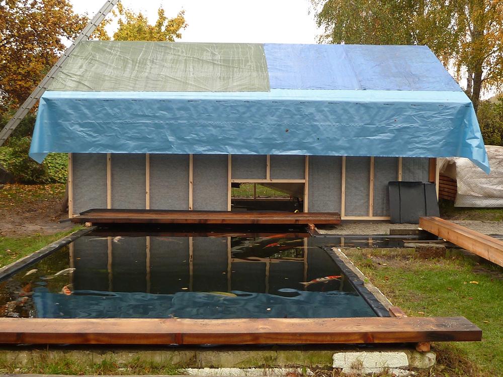 Bau des Filterhauses